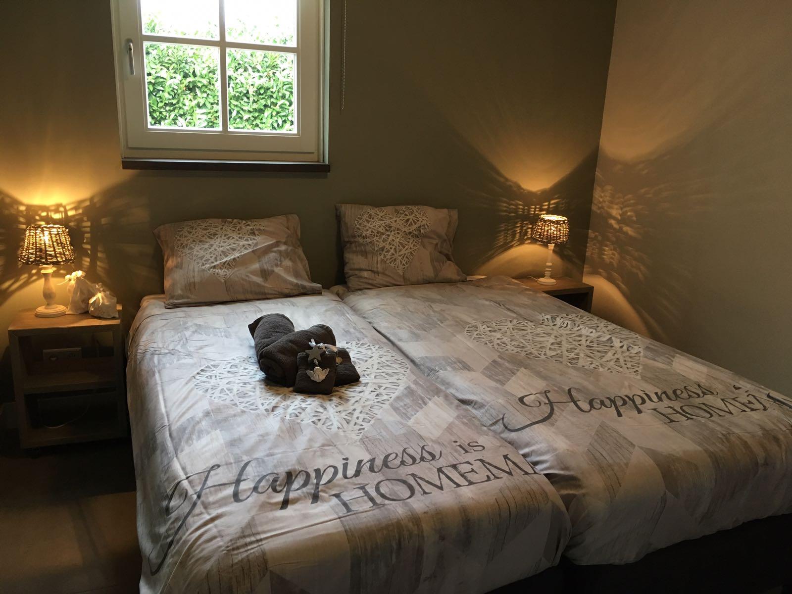 Slaapkamer met twee heerlijke bedden